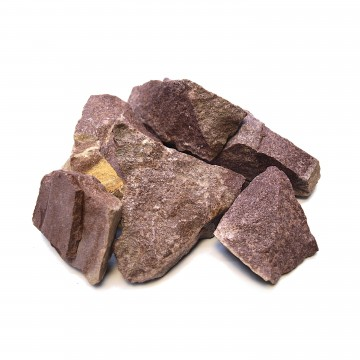 Камни МАЛИНОВЫЙ КВАРЦИТ 20 кг, колотый