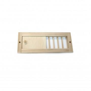 Решетка вентиляционная БТ с задвижкой малая