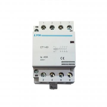 Контактор модульный LYN CT1-63 40A 4NO