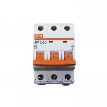 Автоматический выключатель TDM ВА47-29 Зп 40А