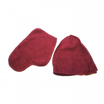 Набор махровый рукавица+шапка