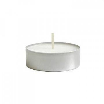 Свеча круглая белая